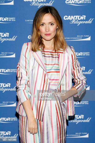 Rose Byrne attends the Annual Charity Day hosted by Cantor Fitzgerald BGC and GFI at Cantor Fitzgerald on September 11 2018 in New York City