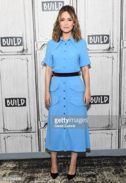 Rose Byrne attends the Build Series to discuss the new film 'Juliet Naked' at Build Studio on August 15 2018 in New York City