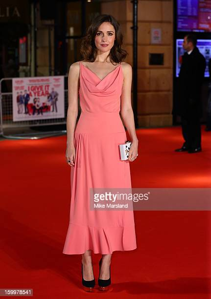 Rose Byrne attends the European Premiere of 'I Give It A Year' at Vue West End on January 24 2013 in London England