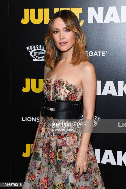 Rose Byrne attends the Juliet Naked New York Premiere at Metrograph on August 14 2018 in New York City
