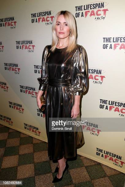 Rose Byrne attends 'The Lifespan of a Fact' opening night at Studio 54 on October 18 2018 in New York City