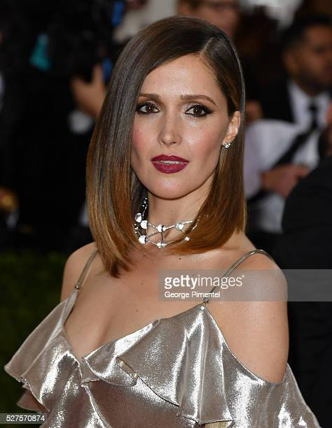 Rose Byrne attends the 'Manus x Machina Fashion in an Age of Technology' Costume Institute Gala at the Metropolitan Museum of Art on May 2 2016 in...