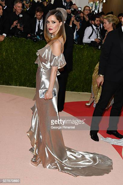 Rose Byrne attends the 'Manus x Machina: Fashion in an Age of Technology' Costume Institute Gala at the Metropolitan Museum of Art on May 2, 2016 in...