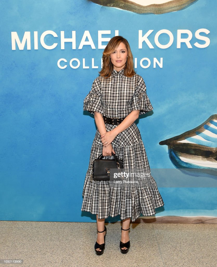 Rose Byrne attends the Michael Kors Collection Spring 2019 Runway Show at Pier 17 on September 12, 2018 in New York City.