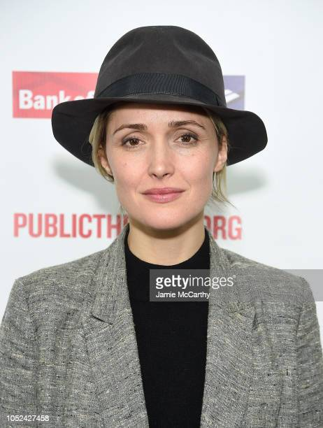 """Rose Byrne attends the """"Mother Of The Maid"""" Opening Night Celebration at The Public Theater on October 17, 2018 in New York City."""