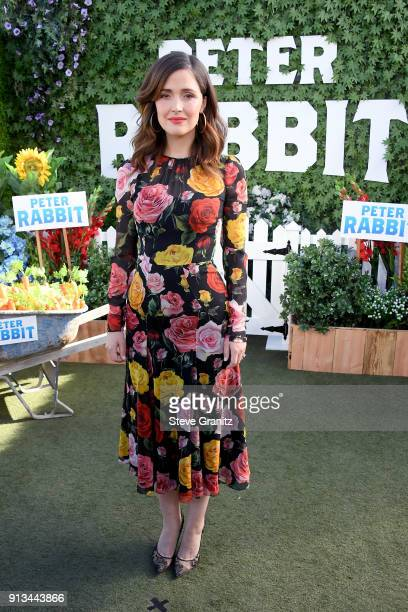 Rose Byrne attends the photo call for Columbia Pictures' 'Peter Rabbit' at The London Hotel on February 2 2018 in West Hollywood California