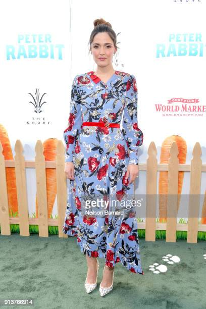 Rose Byrne attends the premiere of Columbia Pictures' 'Peter Rabbit' at The Grove on February 3 2018 in Los Angeles California