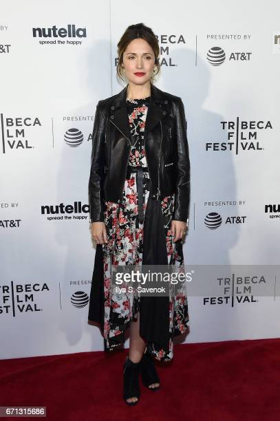 Rose Byrne attends the Tribeca Shorts New York Group Therapy at Regal Battery Park Cinemas on April 21 2017 in New York City