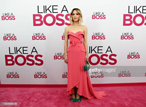 Rose Byrne attends the world premiere of Like A Boss at SVA Theater on January 07 2020 in New York City