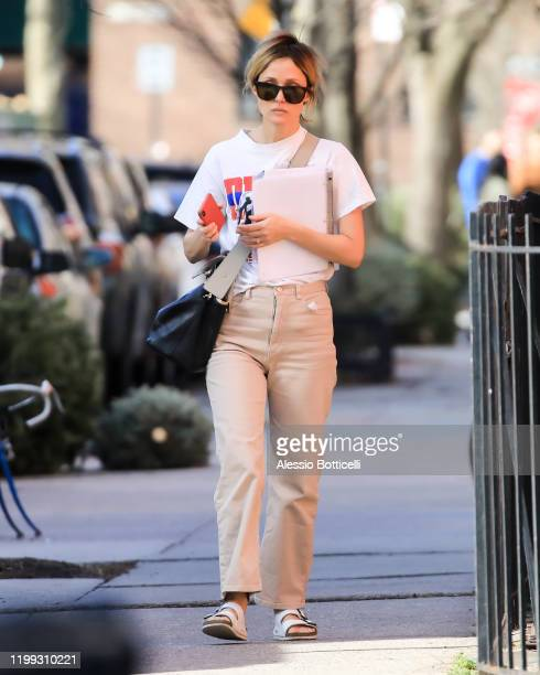 Rose Byrne is seen heading to her theater play on January 13, 2020 in New York City.