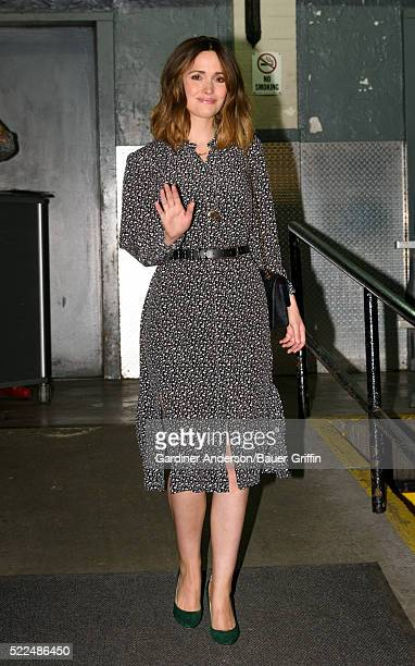 Rose Byrne is seen on April 19 2016 in New York City