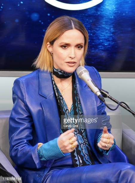 Rose Byrne speaks during SiriusXM's Town Hall with the cast of 'Like A Boss' hosted by Hoda Kotb at the SiriusXM Studio on January 8, 2020 in New...