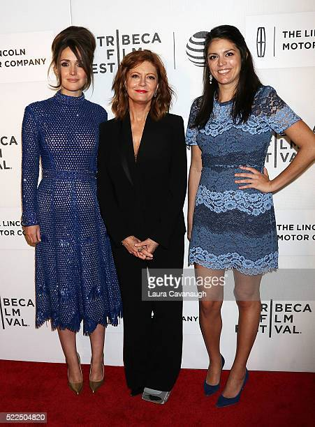 """Rose Byrne, Susan Saranadon and Cecily Strong attend """"The Meddler"""" Premiere during the 2016 Tribeca Film Festival at John Zuccotti Theater at BMCC..."""