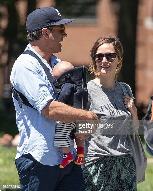 Rose Byrne with Bobby Cannavale and their son Rocco seen on June 10 2016 in New York City