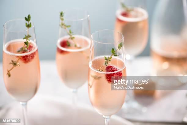 Rose Champagne Cocktails