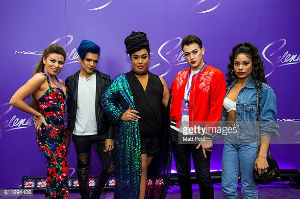 Rose Ciard Gabriel Zamora Patrick Starrr Manny Mua and Raye Boyce at the MAC Selena World Premiere on September 30 2016 in Corpus Christi Texas