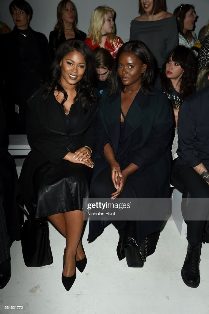 Rose Concencion and Filimina Kwao attend the Chromat collection Front Row during New York Fashion Week: The Shows at Gallery 3, Skylight Clarkson Sq on February 10, 2017 in New York City.