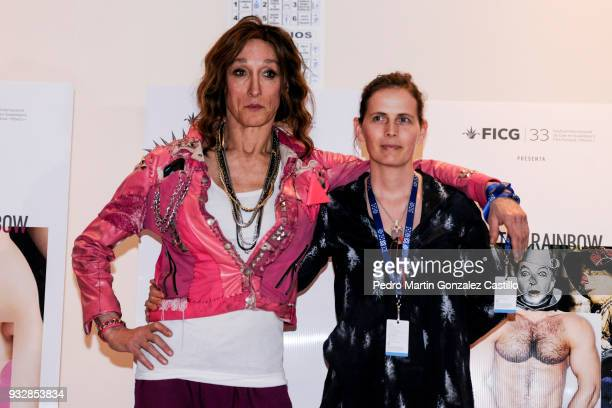 Rose Cory queer icon and Helle Jensen director of the documentary Miss Rosewood pose during the 33 Guadalajara International Film Festival on March...