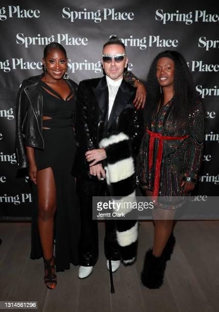 Rose, Damon Peruzzi and Phylicia Fant attend Spring Place's Oscars party honoring Andra Day and the cast of The United States vs. Billie Holiday on...