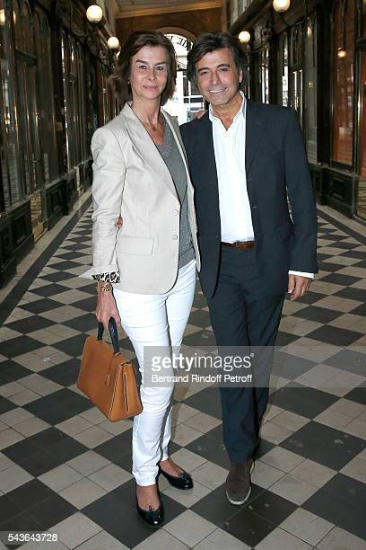 Rose de Ganay and Alexandre Zouari attend the Private View of 'Francoise Sagan Photographer' Photo Exhibition at Galerie Pierre Passebon on June 29...