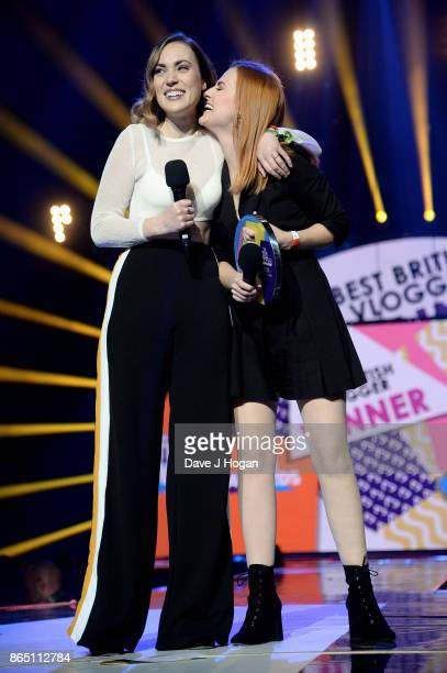 Rose Ellen Dix and Roseanne Spaughton aka Rose and Rosie speak onstage at the BBC Radio 1 Teen Awards 2017 at Wembley Arena on October 22 2017 in...