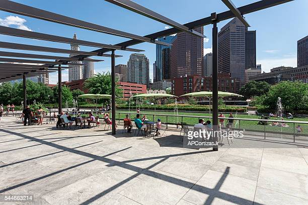 rose fitzgerald kennedy greenway in boston - rose kennedy stock pictures, royalty-free photos & images