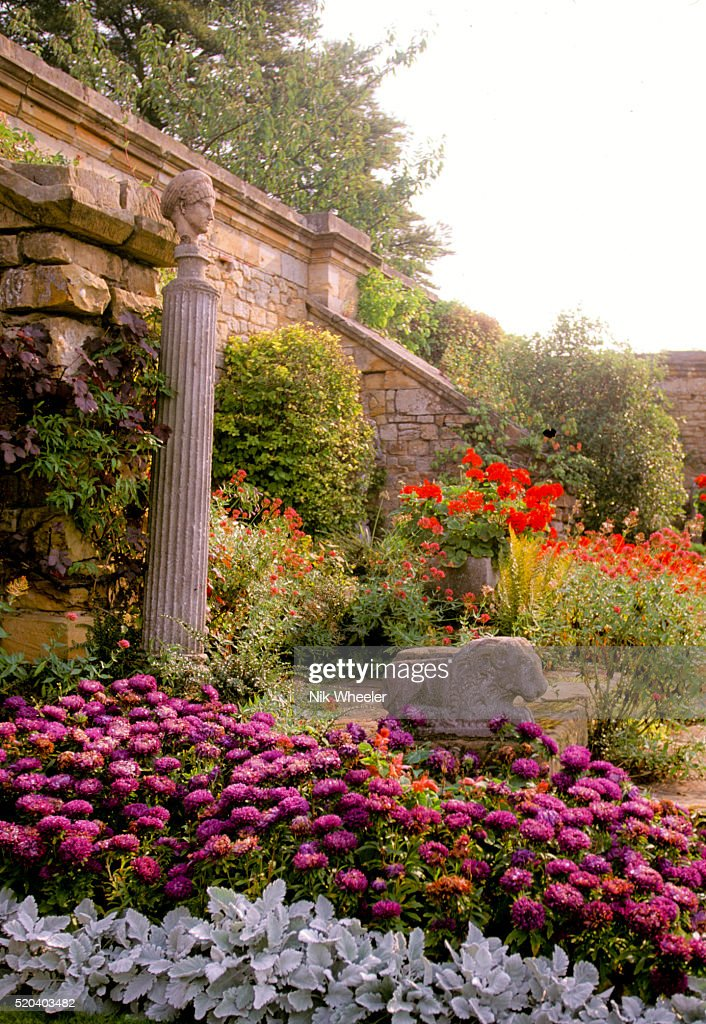 Rose Garden Hever Castle Kent England Uk Stock Photo