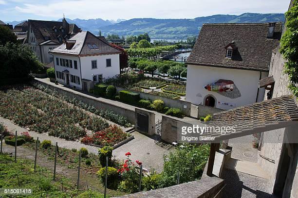 Rose Garden in Rapperswil Schlossberg and Einsiedlerhaus Switzerland