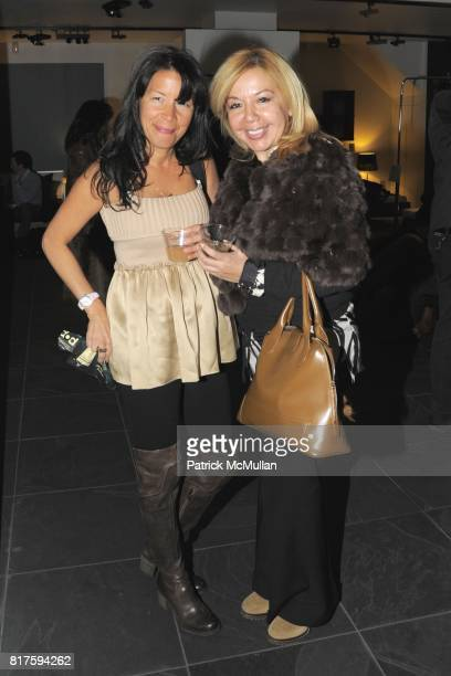 Rose Geller and Adelle Anino attend 8TH ANNUAL BoCONCEPT/KOLDESIGN HOLIDAY PARTY at BoConcept on December 14 2010 in New York City