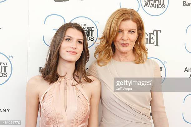 Rose Gilroy and actress Rene Russo attend the 2015 Film Independent Spirit Awards at Santa Monica Beach on February 21 2015 in Santa Monica California