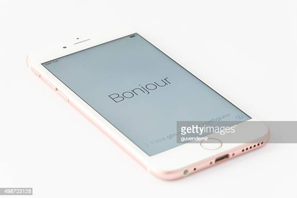 Rose Gold iPhone 6s in French