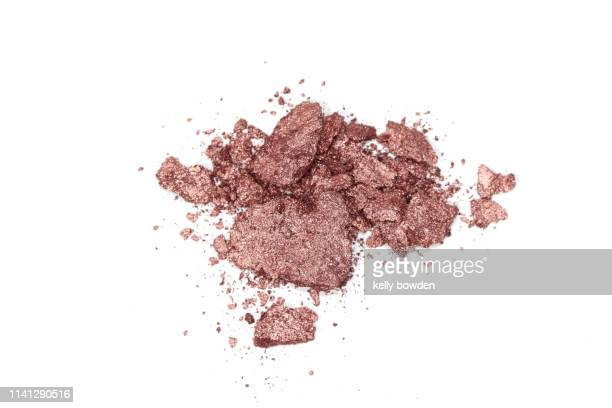 rose gold make up eyeshadow powder blush - kelly bowden stock pictures, royalty-free photos & images