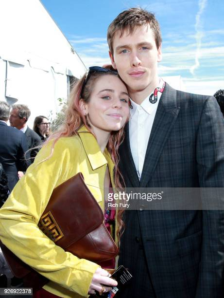 Rose Gray and actor Harris Dickinson attend the 2018 Film Independent Spirit Awards on March 3 2018 in Santa Monica California