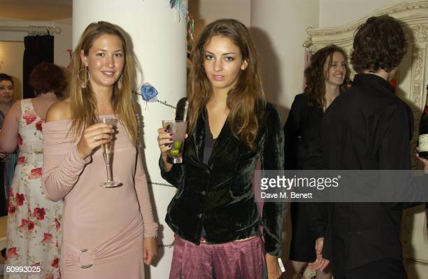 Rose Hanbury and Emma Lopes attends the launch of new boutique Austique at its Kings Road location on June 23 2004 in London The women's boutique is...
