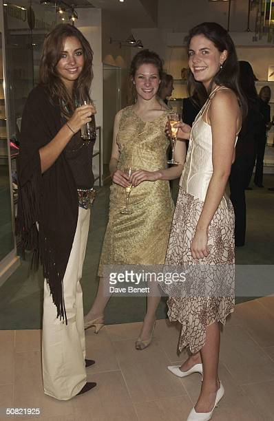 Rose Hanbury and friends attends the Opening of Pantalon Chameleon Store at the Duke of York Square in Chelsea on May 21 2003 in London