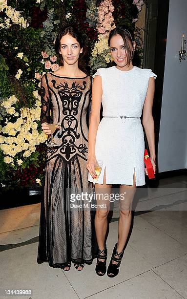 Rose Hanbury and Sasha Volkova attend the Leon Max Winter Dinner and Dance for 'Too Many Women' in support of Breakthrough Breast Cancer at Claridges...