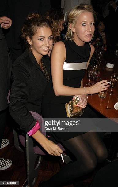 Rose Hanbury and Sophia Hesketh attend the book launch of 'The Year Of Eating Dangerously' by Tom Parker Bowles at Kensington Place on October 12...