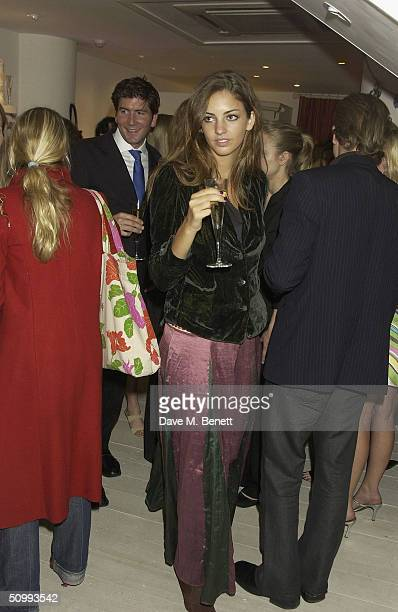 Rose Hanbury attends the launch of new boutique Austique at its Kings Road location on June 23 2004 in London The women's boutique is owned by...