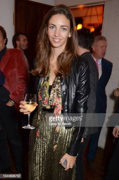 Rose Hanbury Marchioness of Cholmondeley attends the Chris Levine 'Inner [Deep] Space' in benefit of Elton John AIDS Foundation private view hosted...