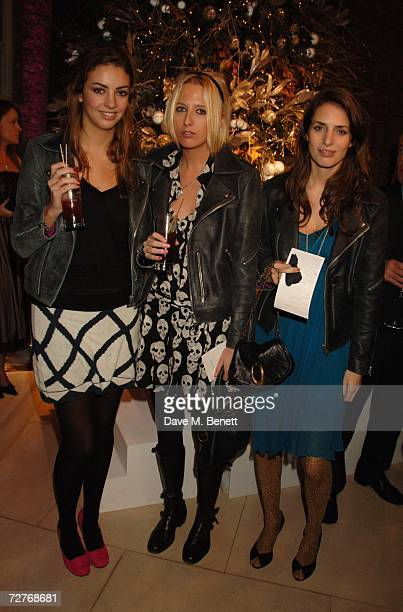 Rose Hanbury Sophia Hesketh and Marina Hanbury attend the Asprey 225th anniversary party at Asprey on December 7 2006 in London England