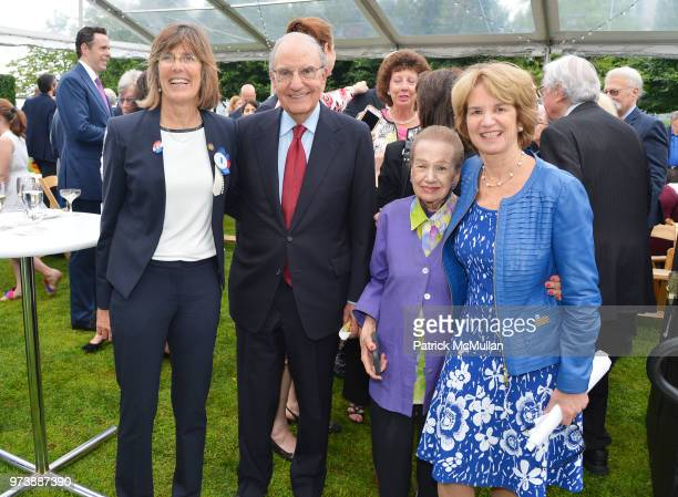 Rose Harvey George J Mitchell Angie Cabrera and Kathleen Kennedy Townsend attend the Franklin D Roosevelt Four Freedoms Park's gala honoring Founder...