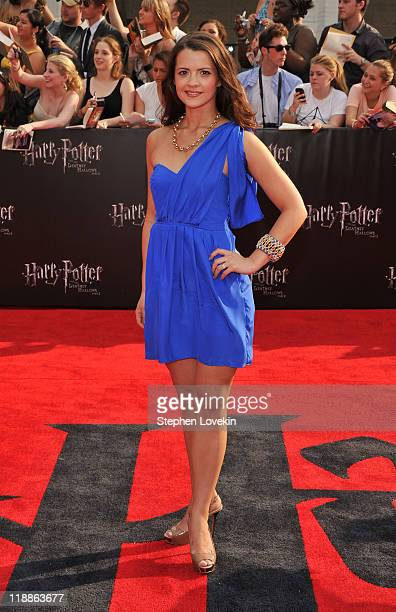 Rose Hemingway attends the New York premiere of Harry Potter And The Deathly Hallows Part 2 at Avery Fisher Hall Lincoln Center on July 11 2011 in...