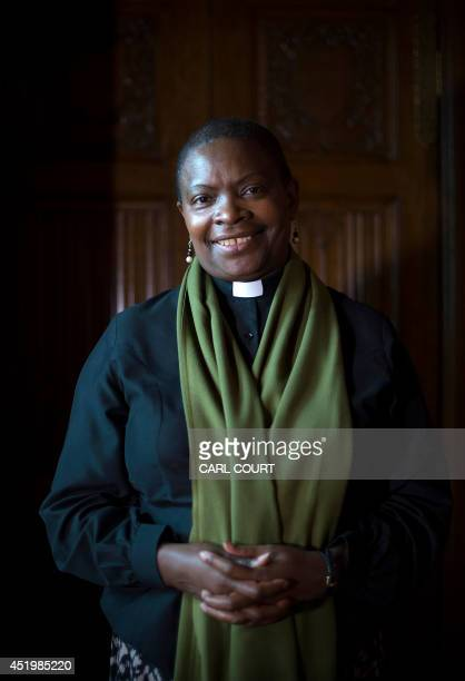 Rose HudsonWilkin chaplain to Queen Elizabeth II and the Speaker of the House of Commons poses for a photograph during an interview with AFP in...