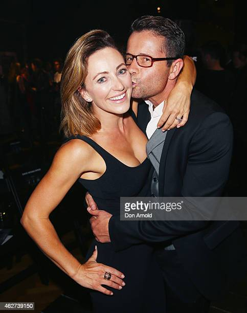 Rose Jacobs and Steve Jacobs pose after the David Jones Autumn/Winter 2015 Collection Launch at David Jones Elizabeth Street Store on February 4 2015...