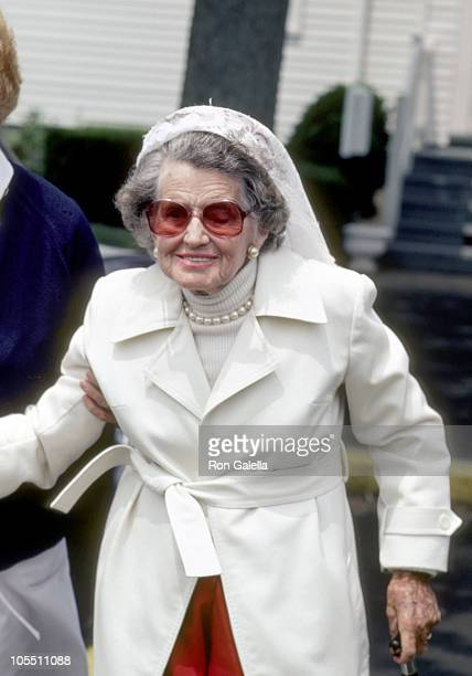 Rose Kennedy during Rose Kennedy Leaving the 12:15 Mass at St Xavier Francis Church - July 2, 1983 at St. Francis Xavier Church in Hyannis,...