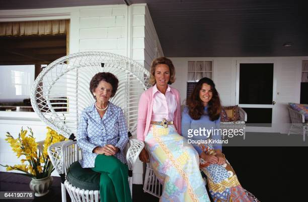 Rose Kennedy Ethel Kennedy and Kathleen Townsend at Kennedy Summer House