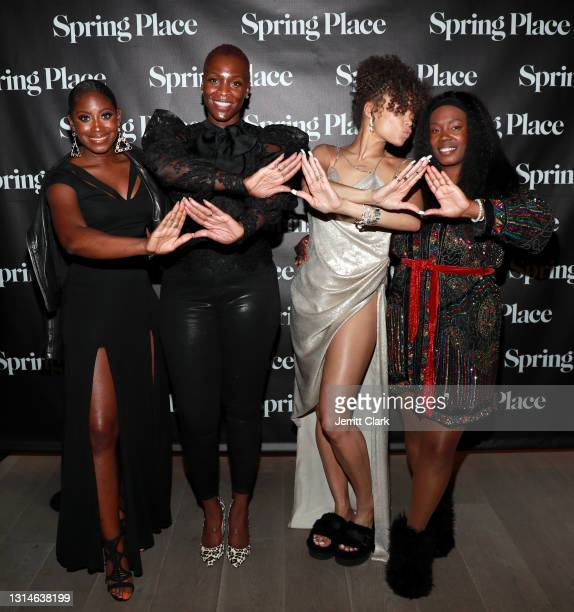 Rose, Kim Jefferson-Pack, Andra Day and Phylicia Fant attend Spring Place's Oscars party honoring Andra Day and the cast of The United States vs....