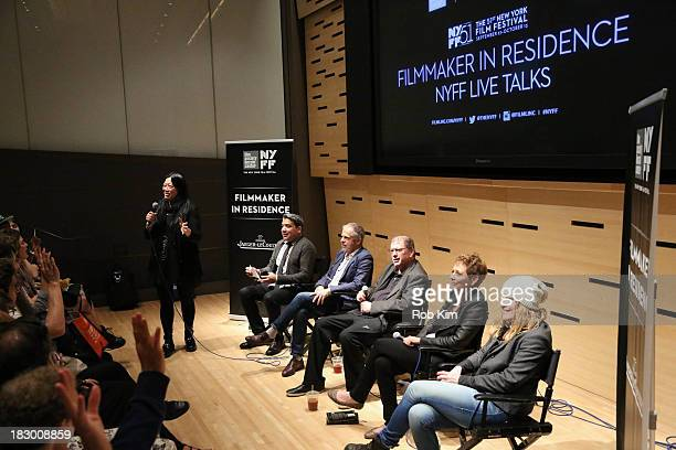 Rose Kuo Eugene Hernandez Henry Bean Larry Gross Naomi Foner Andrea Arnold attend the Story Creation and the Artistic Process panel at Elinor Bunin...