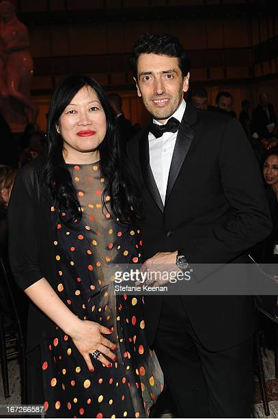 Rose Kuo Executive Director of the Film Society of Lincoln Center and Philippe Bonay JaegerLeCoultre North America President attend The Film Society...