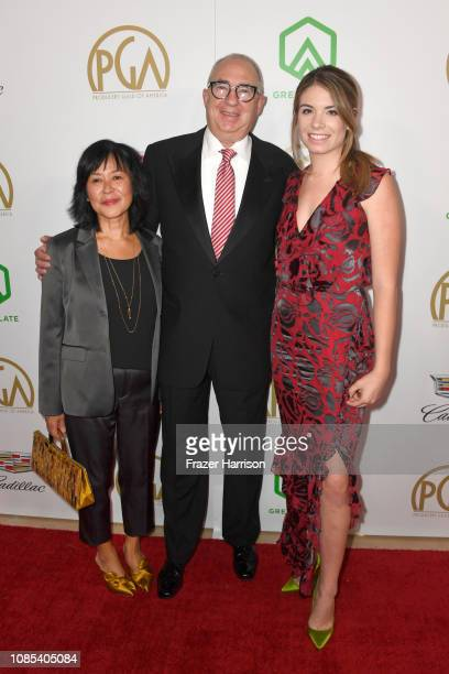Rose Lam Waddell Barry Sonnenfeld adn Chloe Sonnenfeld attend the 30th annual Producers Guild Awards at The Beverly Hilton Hotel on January 19 2019...
